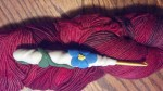 Flowered sculpey crochet hook handle
